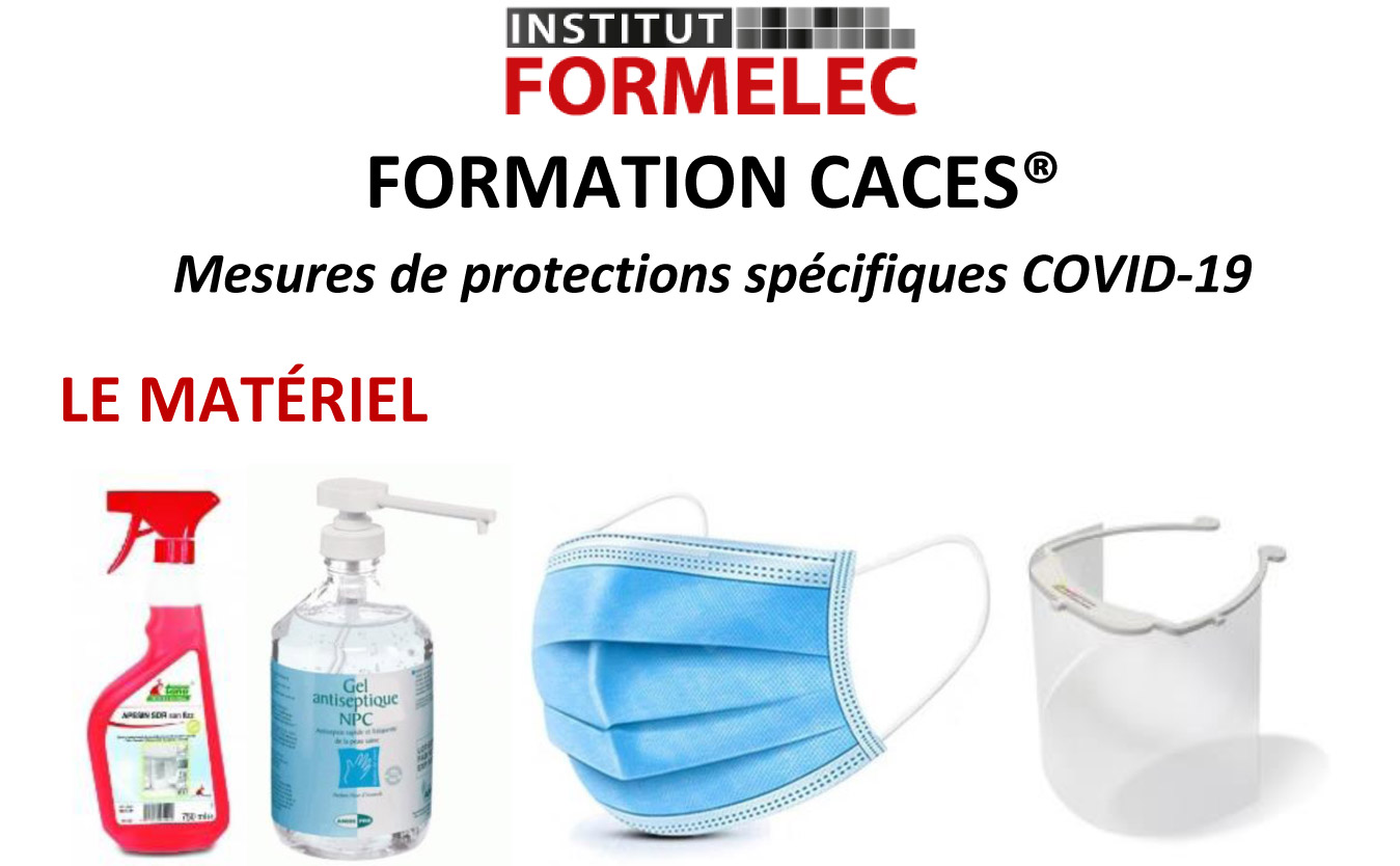 mesures de protection contre le covid19 à l'Institut Formelec